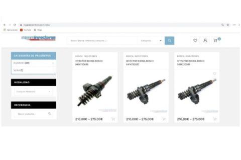 Nueva pagina web dedicada a  la reparacion de inyectores.